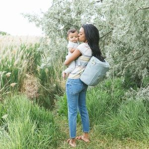 Fawn Design Dusty Blue Backpack Diaper Bag